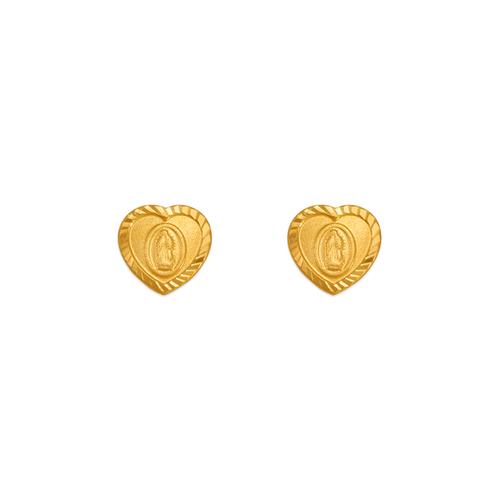 343-322 Guadalupe Heart Stud Earrings