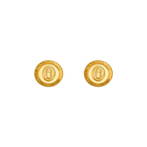 343-324 Guadalupe Circle Stud Earrings