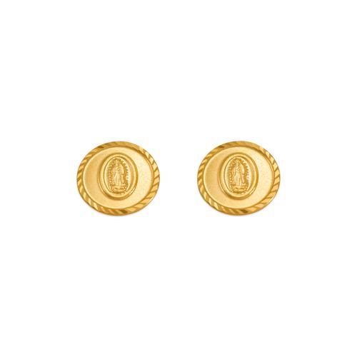 343-326 Guadalupe Bead Circle Stud Earrings