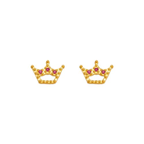 343-243RD Red Tiara CZ Stud Earrings