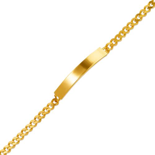 122-150B-100 Kids Curb Shiny ID Bracelet
