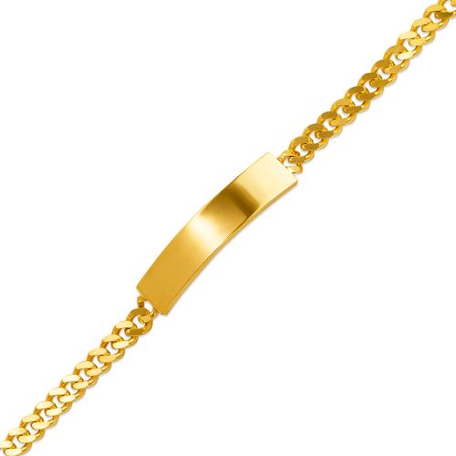 122-150B-120 Kids Curb Shiny ID Bracelet