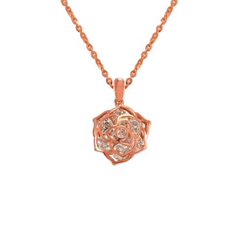 483-127R Ladies Fancy Rose CZ Pendant