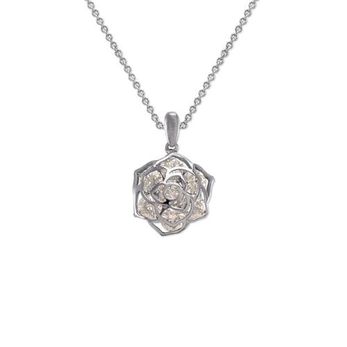 483-127W Ladies Fancy Rose Pendant