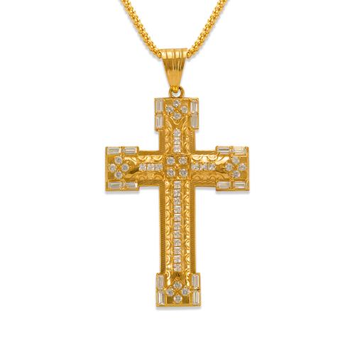 563-018 Cross CZ Pendant