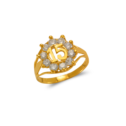 573-203 Ladies 15 Anos CZ Ring