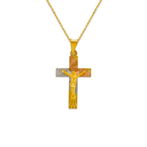 362-961T-027 Jesus Cross Scapular Pendant