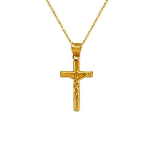 366-101 Round Tube Jesus Cross Pendant