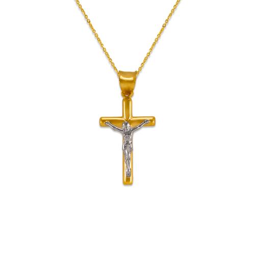 366-101Z Round Tube Jesus Cross Pendant
