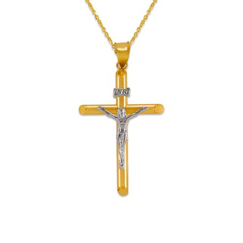 366-103Z Round Tube Jesus Cross Pendant