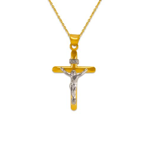 366-111Z Flat Tube Jesus Cross Pendant