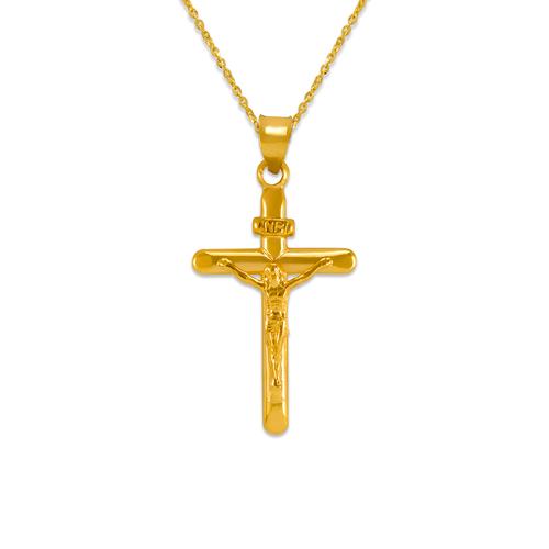 366-112 Flat Tube Jesus Cross Pendant
