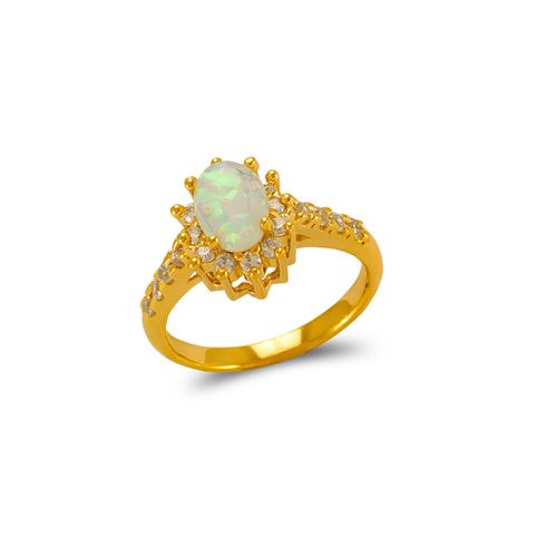 575-016 Ladies Opal CZ Ring