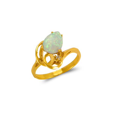 575-022 Ladies Opal CZ Ring