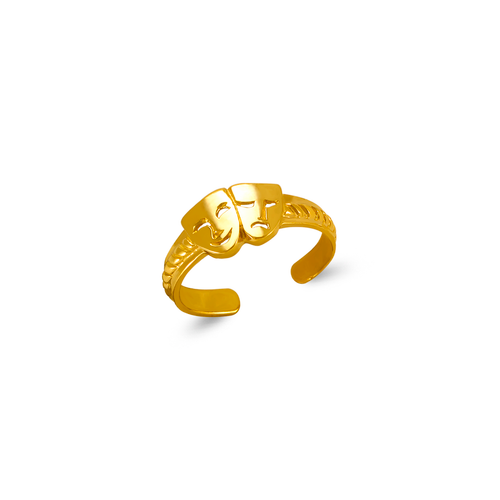 672-025 Laugh Now Cry Later Knuckle/Toe Ring