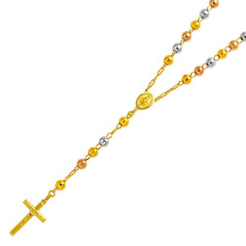 152-001T-070 Rosary Tricolor Chain