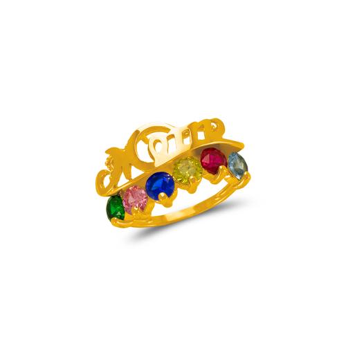 773-535D Mom CZ Ring