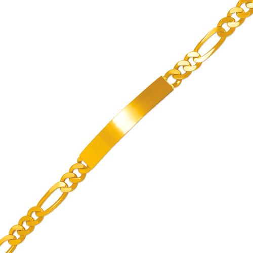 122-250-120 Figaro Shiny ID Bracelet