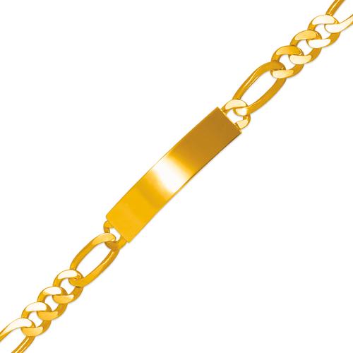 122-250-150 Figaro Shiny ID Bracelet