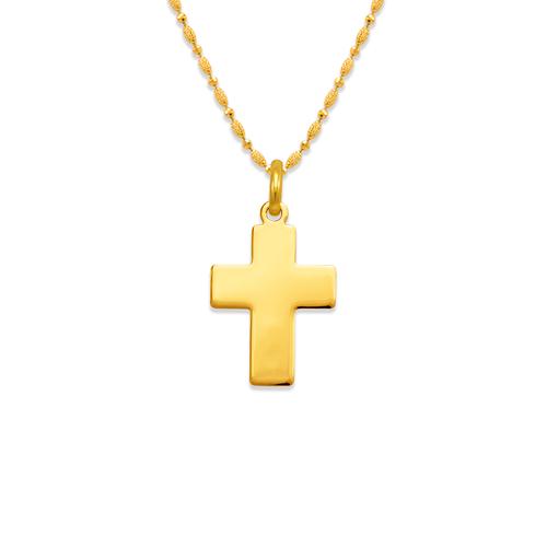 161-201 High Polished Cross Pendant