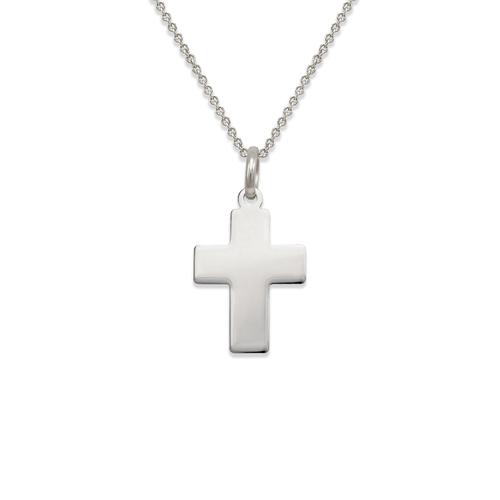161-201W High Polished Cross Pendant