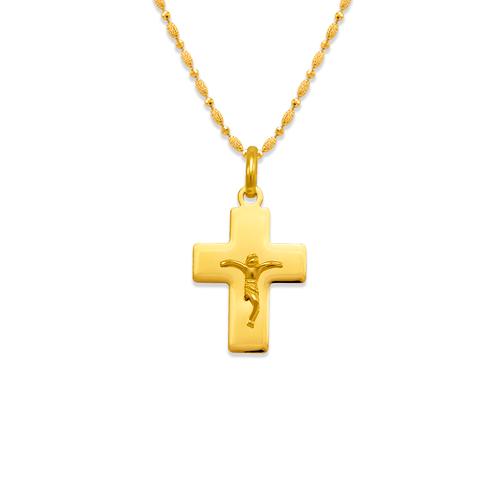 161-202 High Polished Cross Jesus Pendant