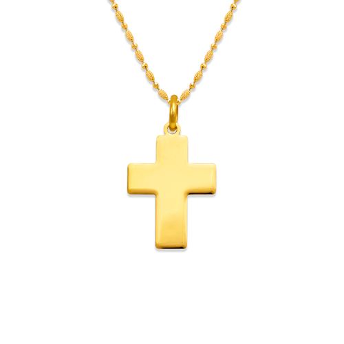 161-203 High Polished Cross Pendant