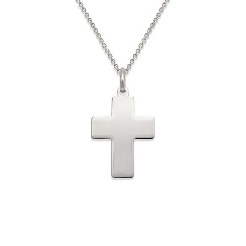 161-203W High Polished Cross Pendant