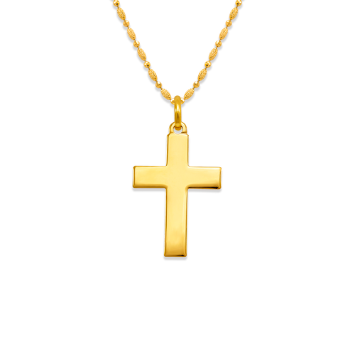 161-205 High Polished Cross Pendant