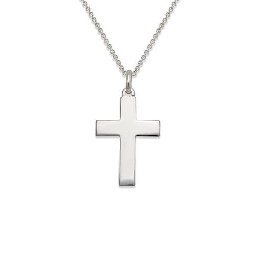 161-205W High Polished Cross Pendant