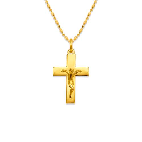 161-206 High Polished Cross Jesus Pendant