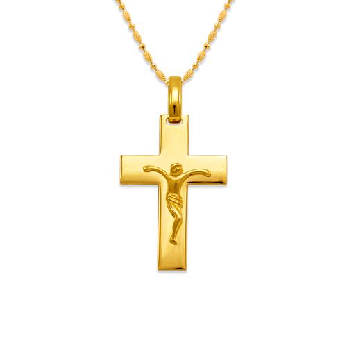 161-252 High Polished Cross Jesus Pendant