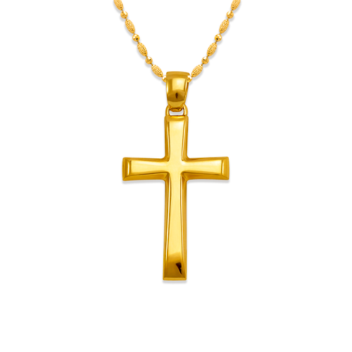 161-253 High Polished Cross Pendant