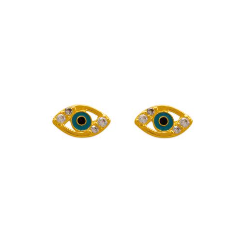 343-510 Magic Eye CZ Stud Earrings