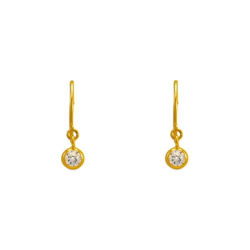 343-621WH Dangling White CZ Stud Earrings