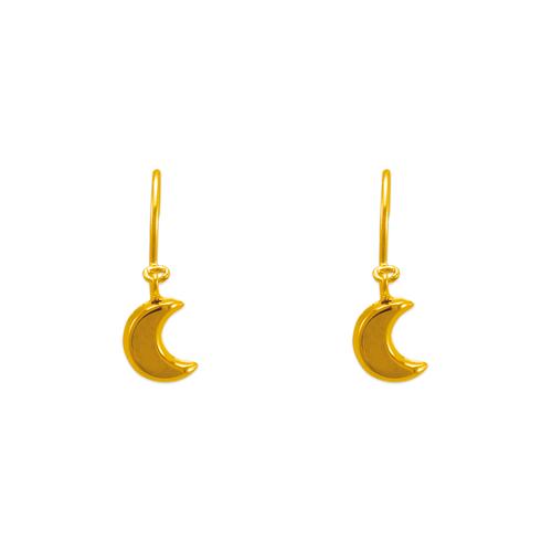 343-625 Dangling H/P Hollow Moon Stud Earrings