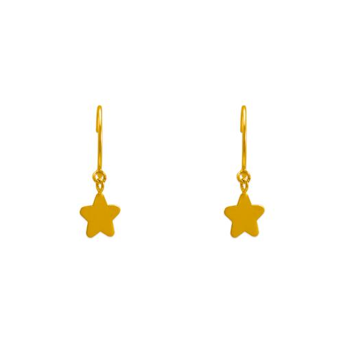 343-626 Dangling H/P Star Stud Earrings