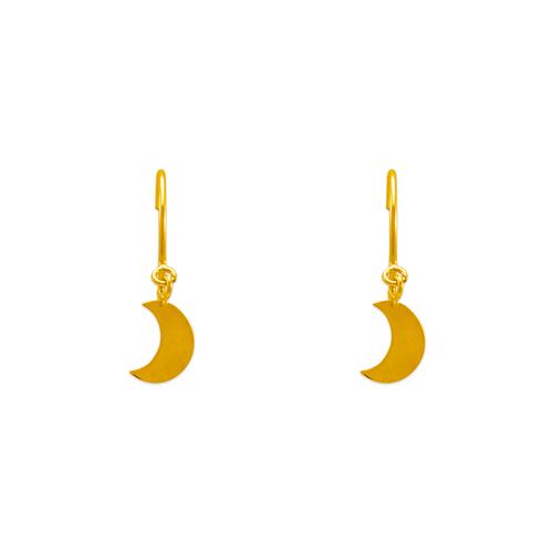 343-627 Dangling H/P Moon Stud Earrings