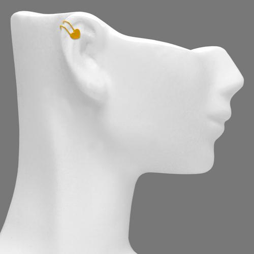 343-805 High Polished Heart Cuff Earring