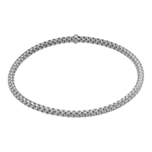 129-001W-030 3mm Stretch Bangle White Bracelet