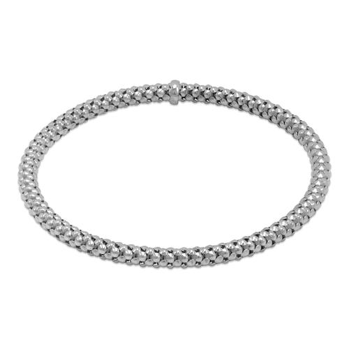 129-001W-040 4mm Stretch Bangle White Bracelet