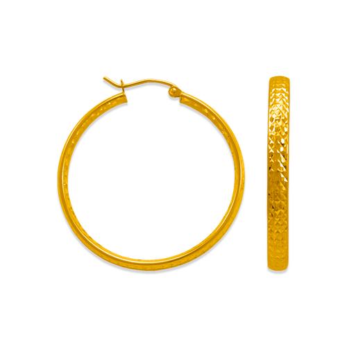 546-711S 3.8mm Full D/C Tube Hoop Earrings