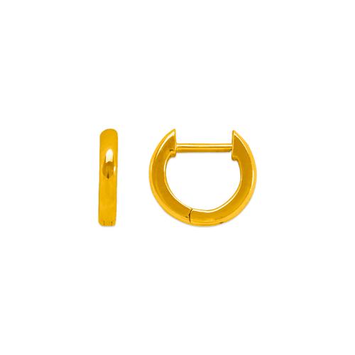 441-001 High Polished Huggie Earrings