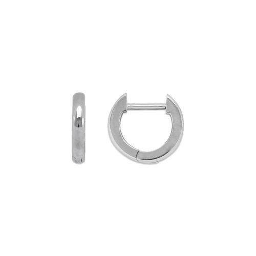 441-001W High Polished Huggie Earrings
