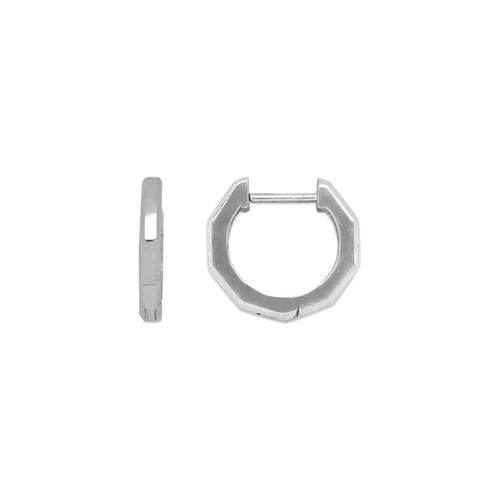 441-002W High Polished Huggie Earrings