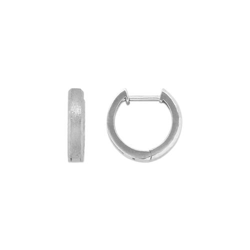 441-003W Satin Finished Huggie Earrings