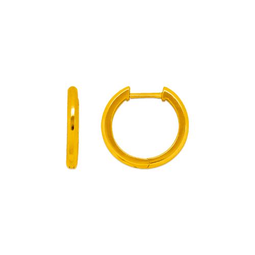 441-004 High Polished Huggie Earrings
