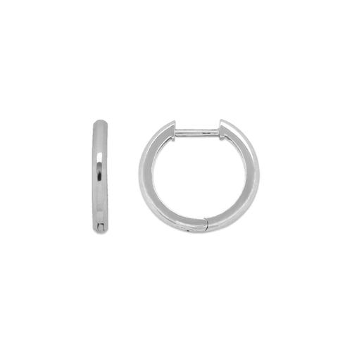441-004W High Polished Huggie Earrings