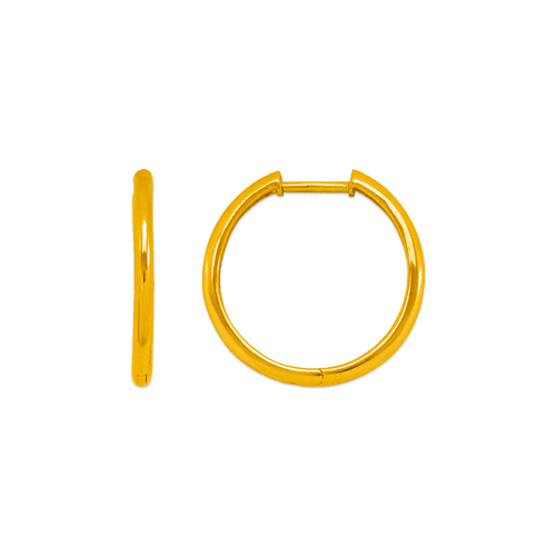 441-005 High Polished Huggie Earrings