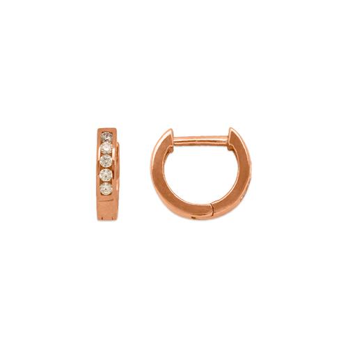 443-251R High Polished Huggie CZ Earrings